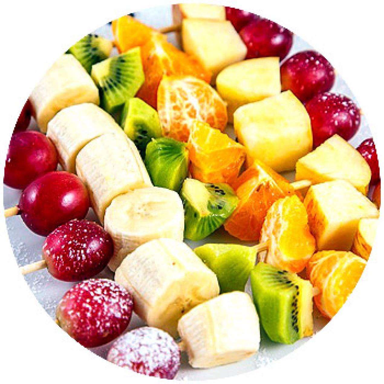 Фото оформления фруктового ассорти для детей
